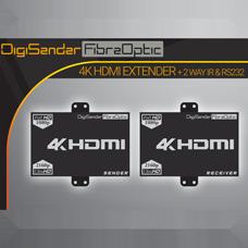 DigiSender 4K Fibre - 4K HDMI Extender with 2-way IR & RS232