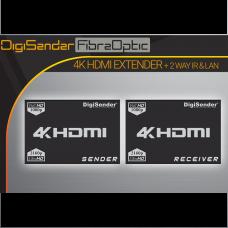 DigiSender 4K Fibre - 4K HDMI Extender with 2-way IR & LAN