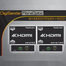 DigiSender 4K Fibre - 4K HDMI Extender with RS232