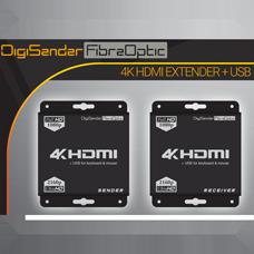 DigiSender 4K Fibre - 4K HDMI Extender with USB (KVM)