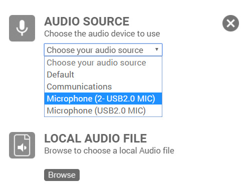 Select Audio Sources